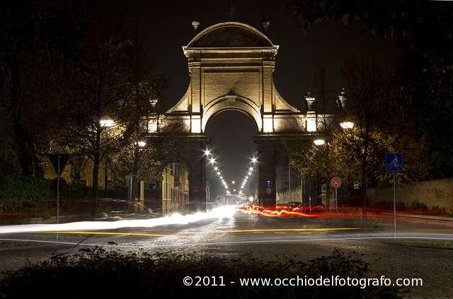 Una foto di sera