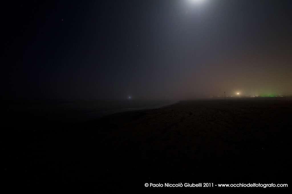 Spiaggia di Portogaribaldi di notte