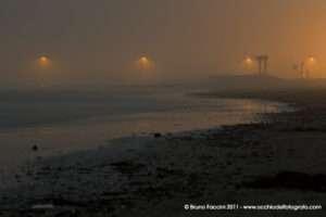 Luci sul mare di Portogaribali di notte