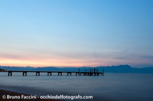 Foto tramonto blue hour