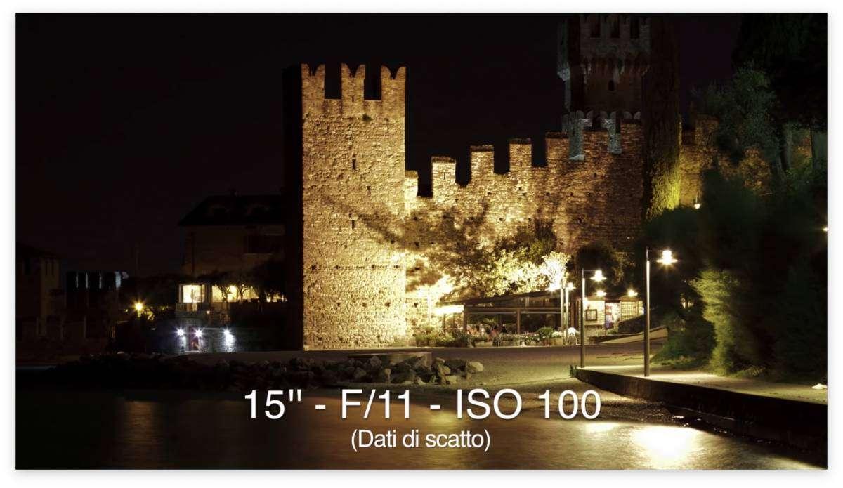Fotografia notturna treppiede - Castello Sirmione